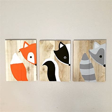 Woodland Animal Nursery Decor 10x14 Set Of 3 Woodland Animal Nursery Signs Nursery Decor Baby Shower Gift Or Baby Decor