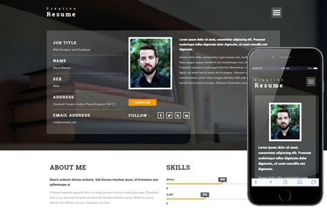 Cv Website Template by Templates Web Site Design Buy Resume