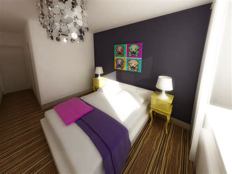 bedroom  pop art style  nikita zagurskii  coroflotcom