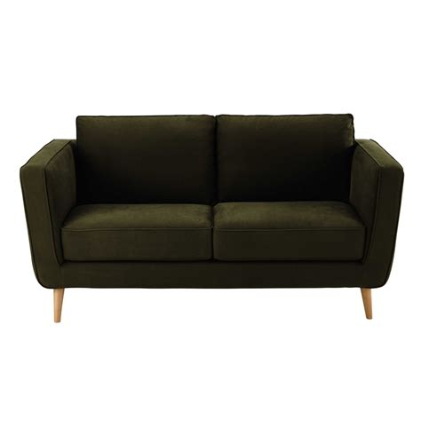 khaki couch 2 3 seater kendo fabric sofa in khaki nils maisons du monde