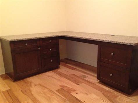 Real Granite Countertop Desk With Office Cabinets 600 Countertop Office Desk