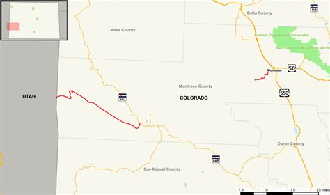 interstate 90 map colorado state highway 90