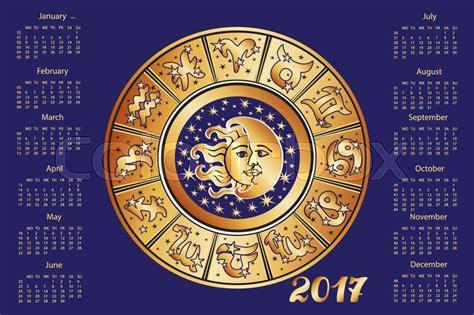 new year 2017 horoscope 2017 new year calendar horoscope circle with zodiac sign