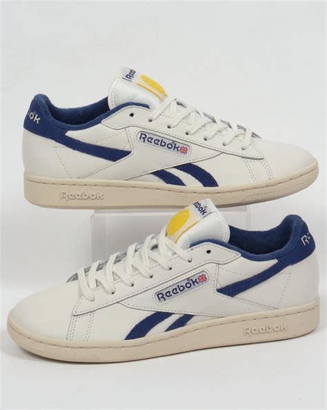 vintage reebok sneakers reebok npc uk trainers chalk white blue shoes vintage retro
