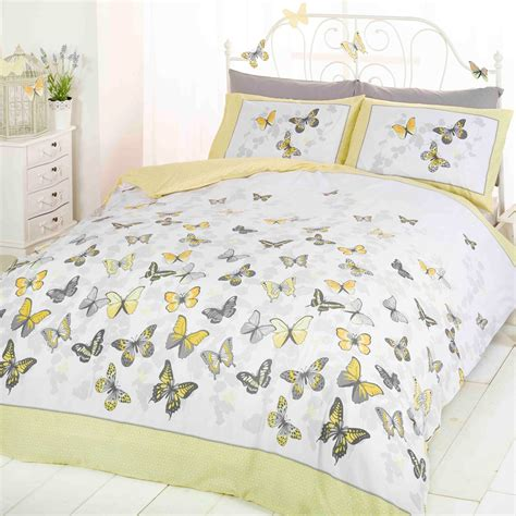 Bettwäsche Größen by Schmetterling Flattern Zitrone Doppel Bettbezug Und