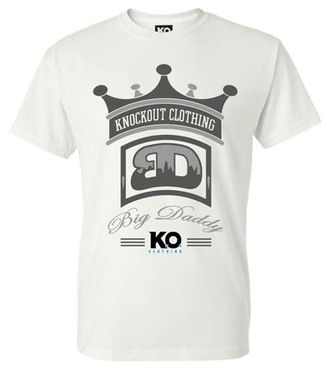 Tshirt K O lucas big browne white classic t shirt k o clothing