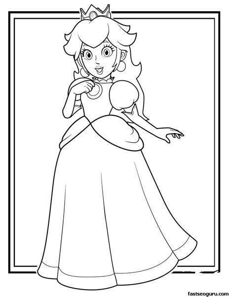 mario coloring pages princess printable mario princess toadstool coloring pages