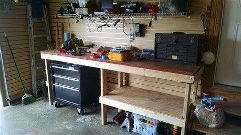 garage tool bench ideas garage workbench