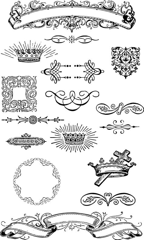 free printable vintage ornaments free vintage grunge vector and clip art ornaments for t