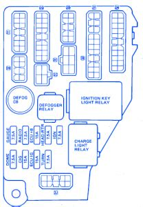 toyota celica gt    main fuse boxblock circuit breaker diagram carfusebox