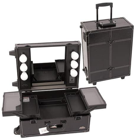 makeup luggage with lights rolling makeup train case makeup vidalondon
