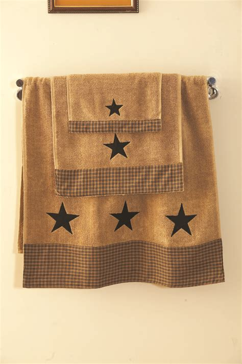 bathroom napkins a customer favorite vintage star in black primitive