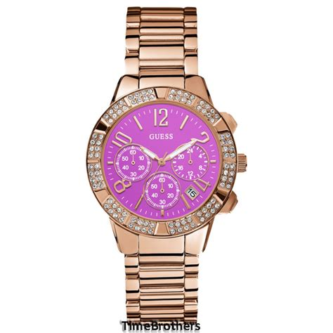 Guess Merica Rosegold Limited new guess for gold tone w pink chronograph u0141l7 ebay