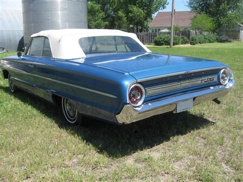 blue galaxy car 1964 ford galaxie 500 convertible 93490