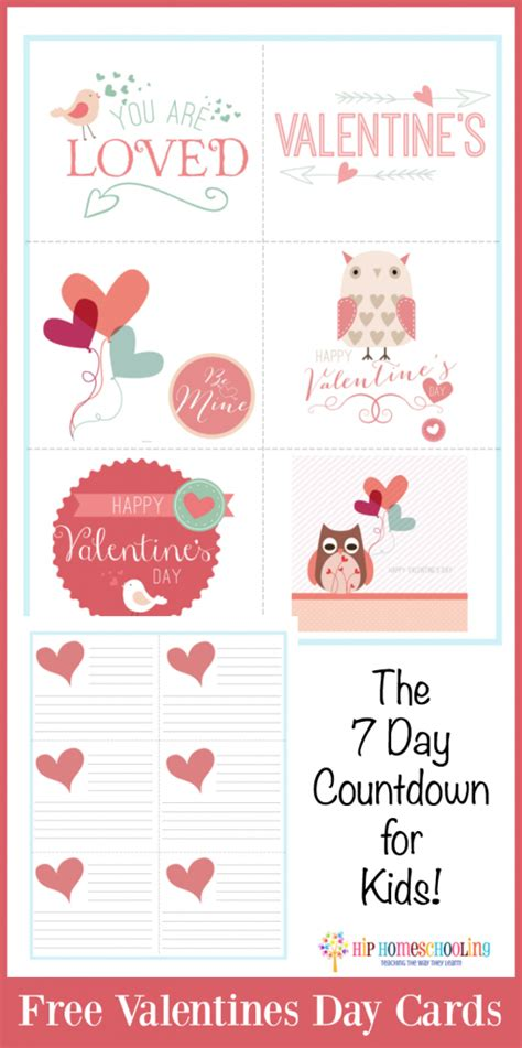 seven days of valentines free valentines day cards the 7 day countdown for