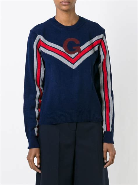 Sweater Comme Des Garcons Zalfa Clothing comme des gar 231 ons stripe motif sweater in blue lyst