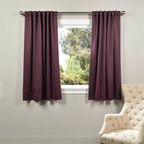 Purple Blackout Curtains Exclusive Fabrics Furnishings Aubergine Purple Blackout Curtain 50 In W X 63 In L Pair