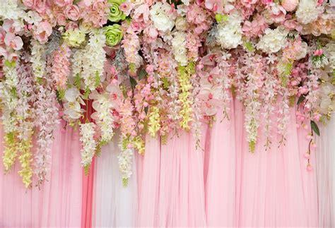 Wedding background decorations artificial flowers romantic