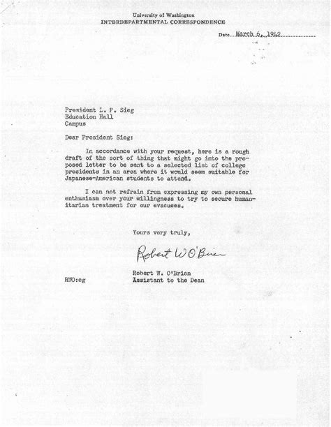 Wesleyan Acceptance Letter Notes Uw Libraries