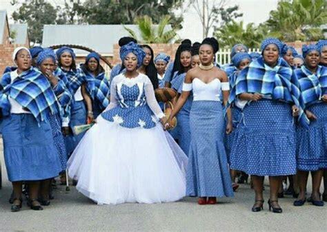 Bluetiful shweshwe bridal procession   Afromania