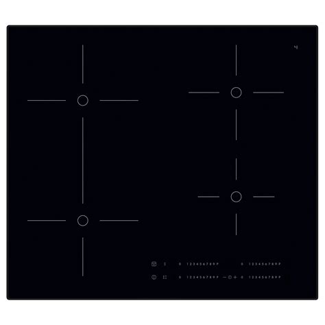 induction hob 5 year guarantee smaklig induction hob black 59 cm ikea