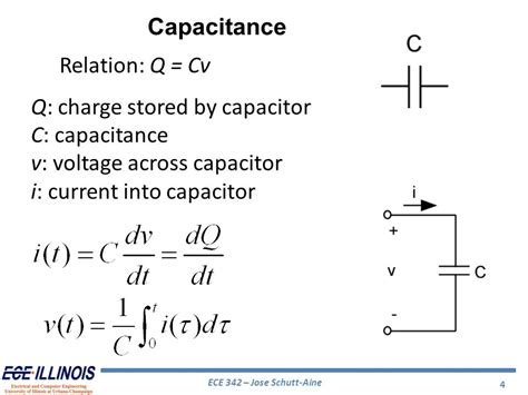 capacitor voltage charge ece networks systems jose e schutt aine ppt