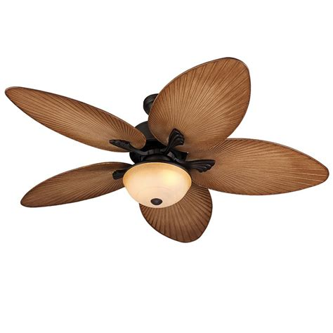 Shop Harbor Breeze Chalmonte 52 In Oil Rubbed Bronze Outdoor Ceiling Fans With Lights And Remote