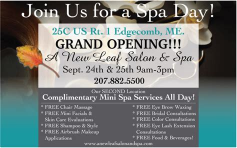 are you opening a new salon or giving your salon design a join us for a spa day our second location grand opening