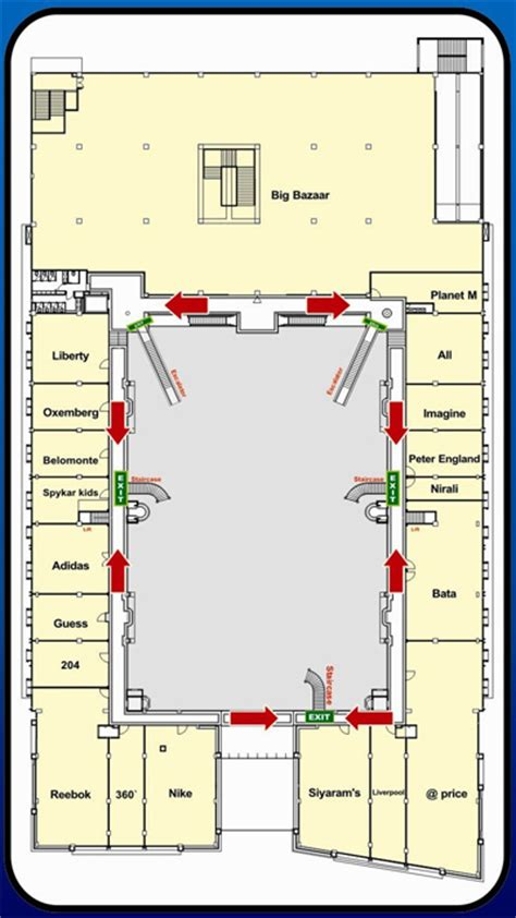 floor plan mall mall layout