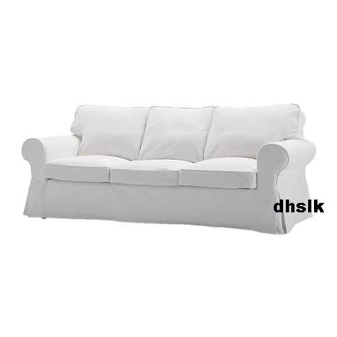 Slipcovered Sofas Ikea by Ikea Ektorp 3 Seat Sofa Slipcover Cover Blekinge White