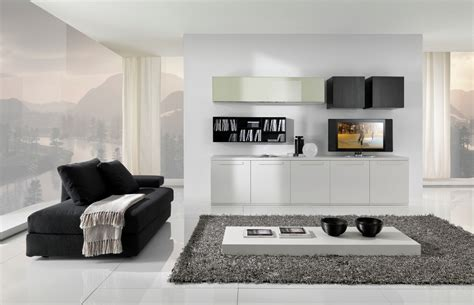 Modern black and white furniture for living room from giessegi digsdigs