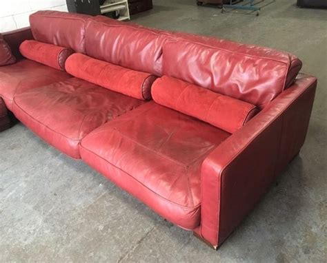 dfs modular corner sofas 163 3500 dfs california large red leather modular corner sofa