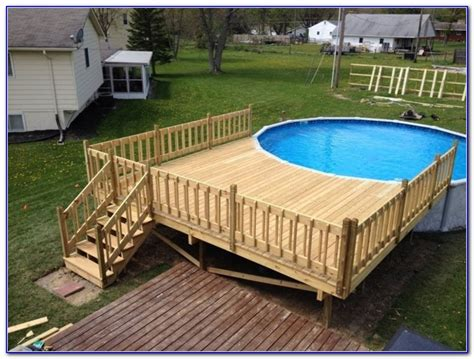 Pool Deck Plans by Pros Of Above Ground Pool Deck Plans Yonohomedesign