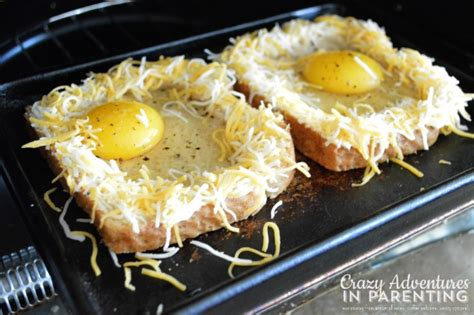 Tefal Toaster Egg Cheesy Baked Egg Toast Crazy Adventures In Parenting