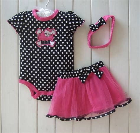 Dress Baby Katun Jepang Dress Bayi 2018 toddler set dots leopard romper suit ruffles tutu pettiskirt headband flower