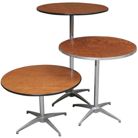 Cocktail Table Pedestal 30 Quot Round High Top Pub Bistro Cocktail Table Rentals