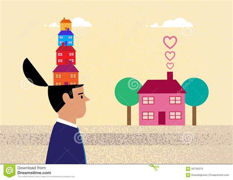 buying a house with another person thinking property investment stock vector image 60756279