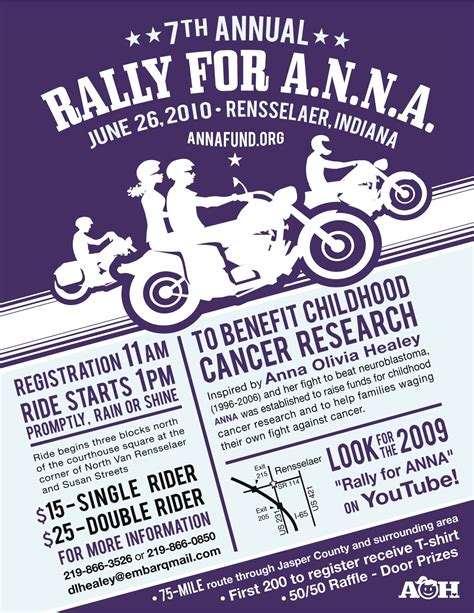 2010 Rally Flyer Free Motorcycle Ride Flyer Template