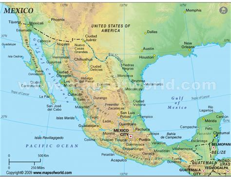 mexico map and mexico geographical map buy mexico physical map green background