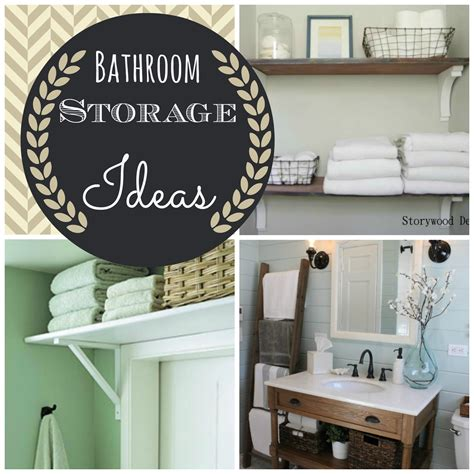 26 Great Bathroom Storage Ideas Couches And Cupcakes Inspiration Small Bathroom Storage