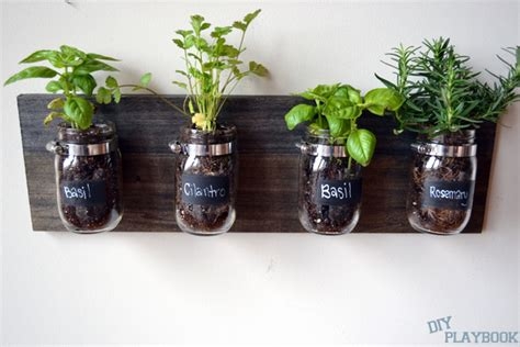 How To Create A Mason Jar Organizer For Your Bathroom Space Jar Herb Garden Wall