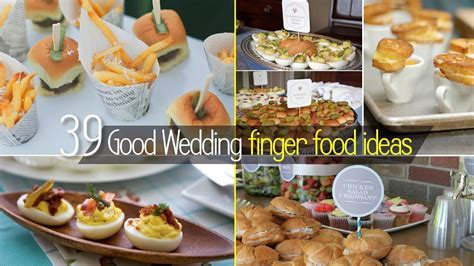 Ideas For Finger Foods For Wedding Receptions