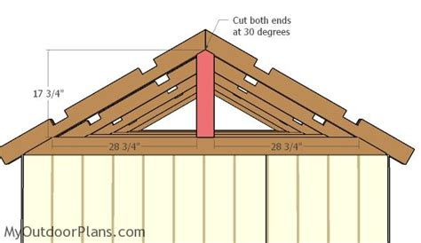 6x8 gable shed roof plans myoutdoorplans free