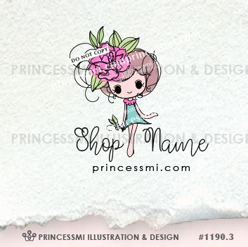 doll logo design girl logo cute doll hand drawn logo logo template