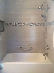 tile tub surround gray tile around bathtub grey tile