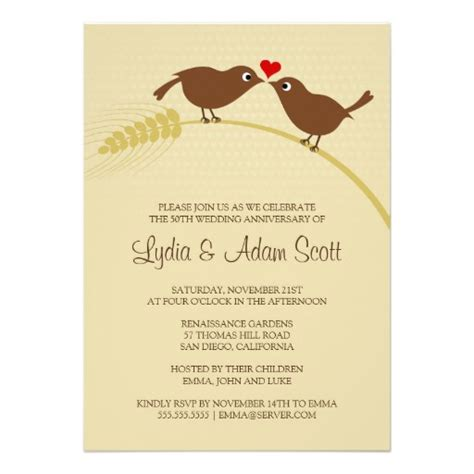 Anniversary Invitations by Bird Rustic Wedding Anniversary Invitations