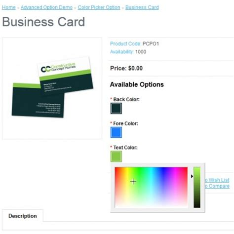 color picker extension extensions product color picker option