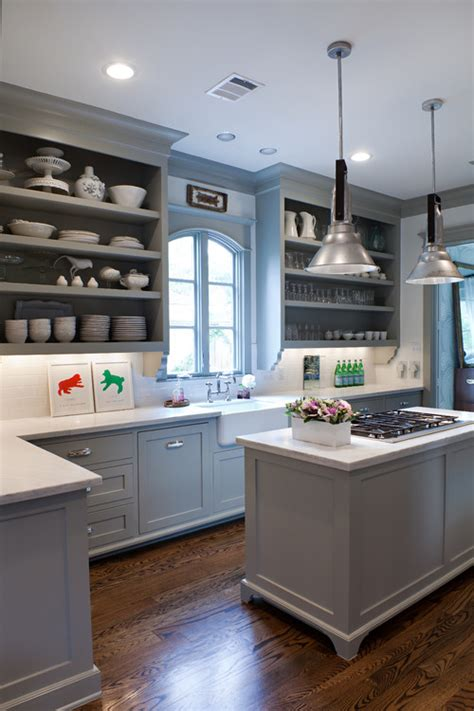 Gray Painted Kitchen Cabinets by Remodelaholic Trends In Cabinet Paint Colors
