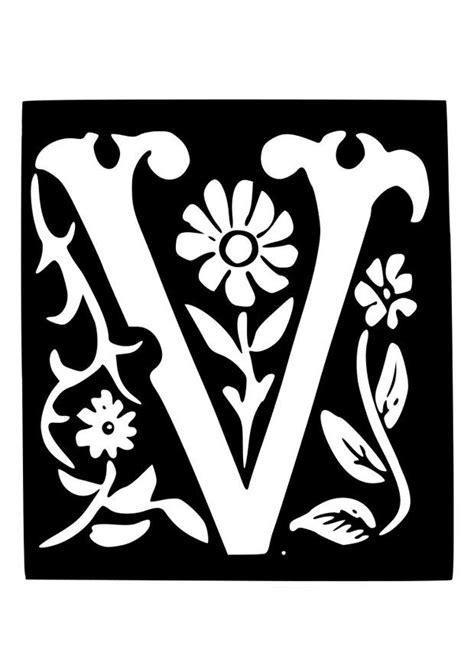 kleurplaat decoratieve letter  afb