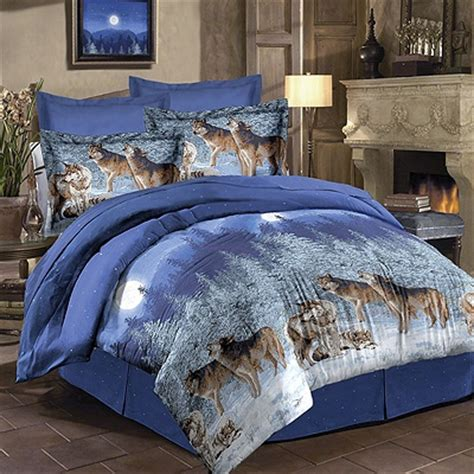 wolf comforter set midnight wolves bedding set shop nwf